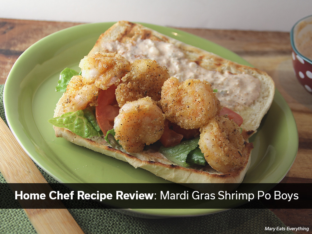 Home Chef Review: Mardi Gras Shrimp Po Boys