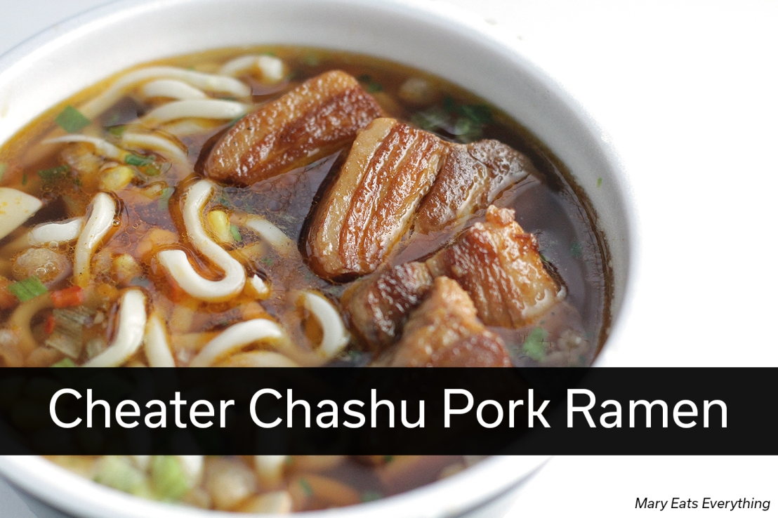 Cheater Chashu Pork Belly Ramen